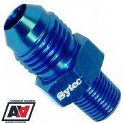 Sytec Motorsport Dash -8 AN8 To 1/8th NPT Alloy Fuel Union Anodised Blue